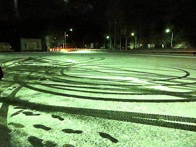 雪の(恐らく)朝倉PA