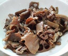 豚肉とレンコンの炒め物