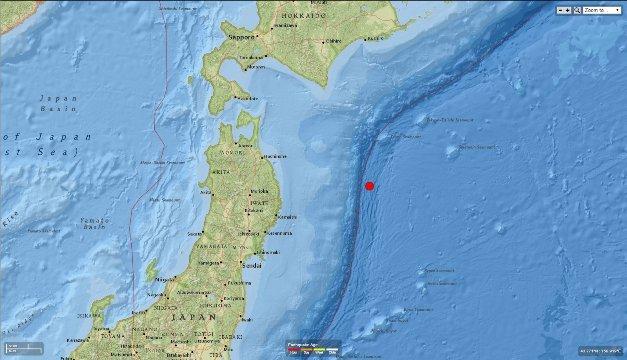 東北地方でM6.7の地震
