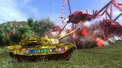 PS4 PS3 地球防衛軍4.1 夏色ハイスクル(略) DLC 痛戦車