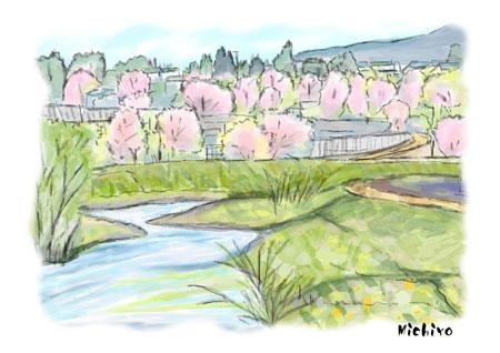 桜のある風景s100