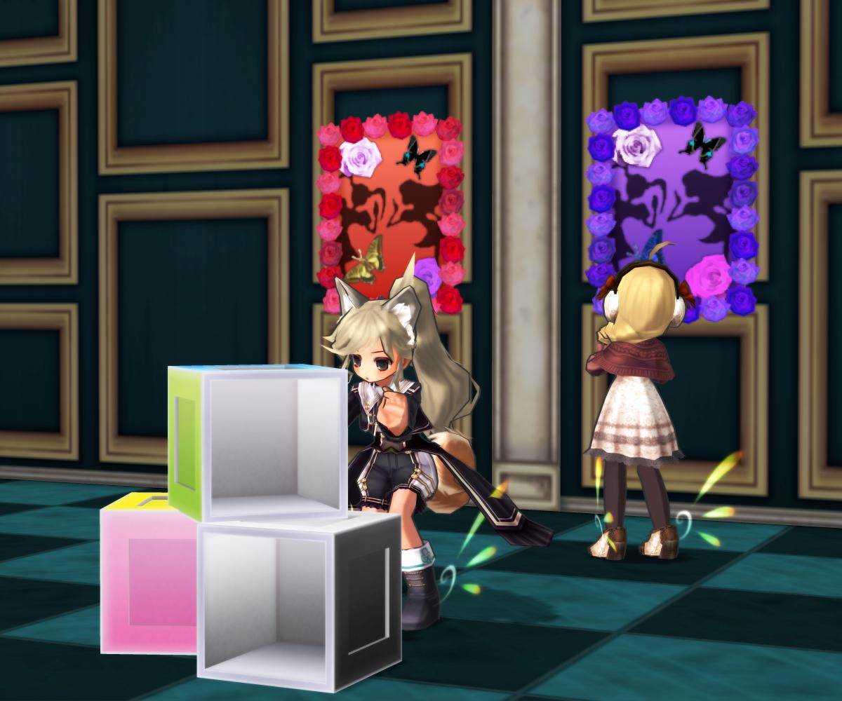 シンプルカラーボックス&バラと蝶々ステッカー
