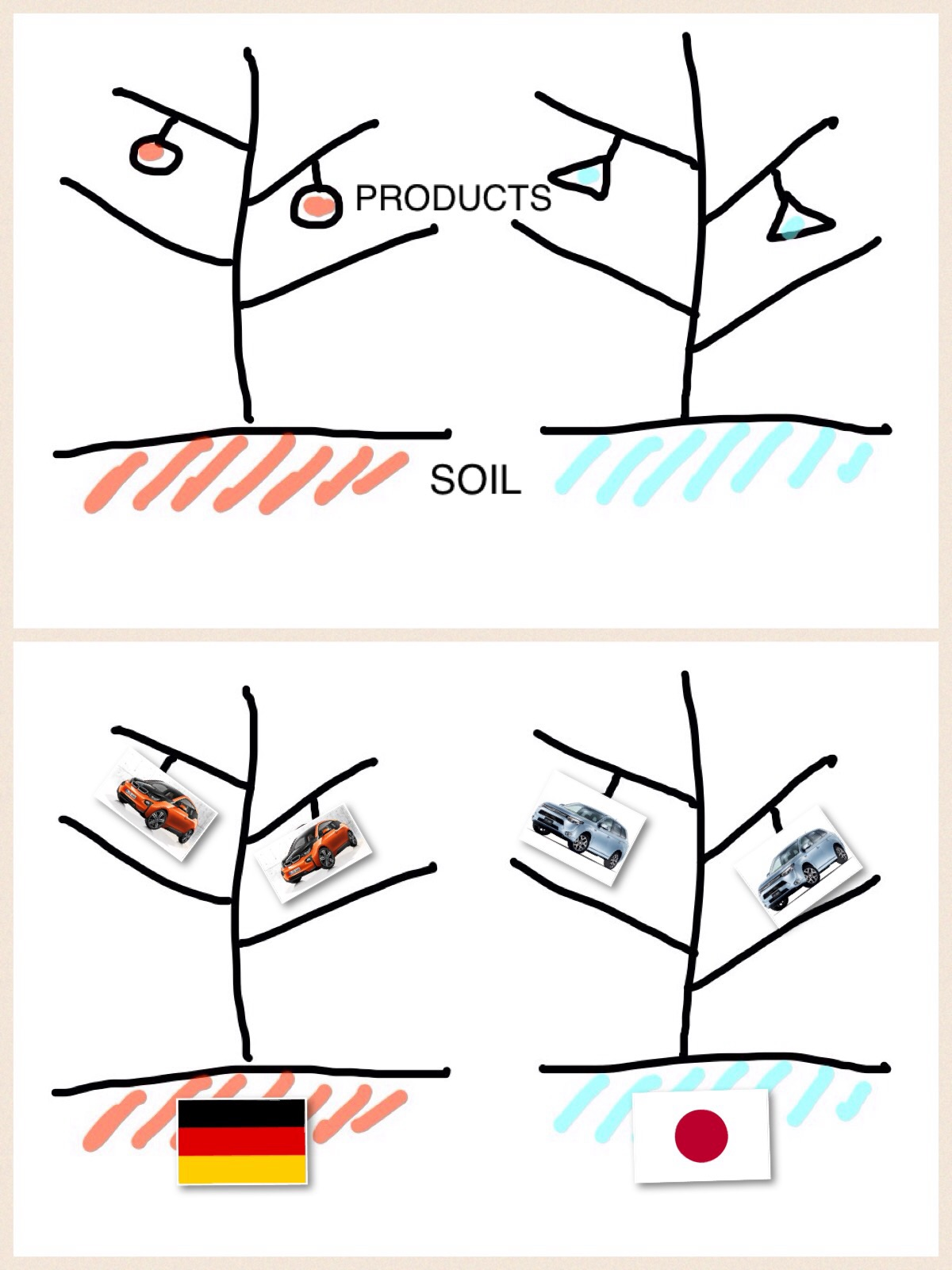 PRODUCTS と SOIL