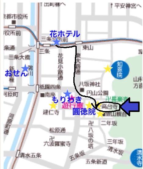 京都 高台寺マップ