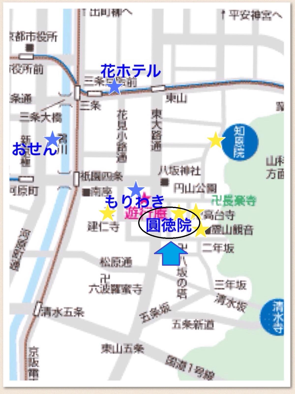 京都 圓徳院 マップ