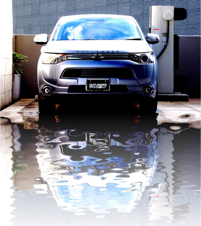 OUTLANDER PHEV WATER EFFECT