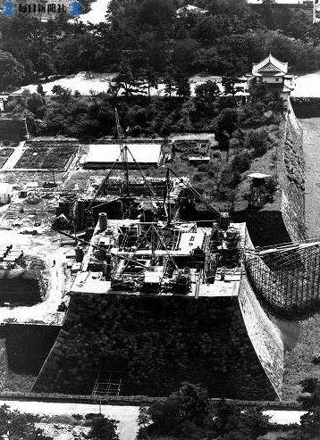 na.名古屋城 昭和32年9月 再建中