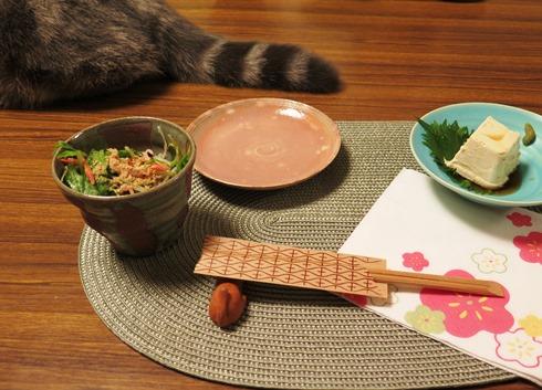 6)櫻エビのサラダべべこしっぽ添え?