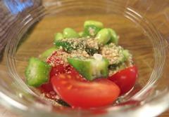 24)枝豆とオクラのレモンドレッシング