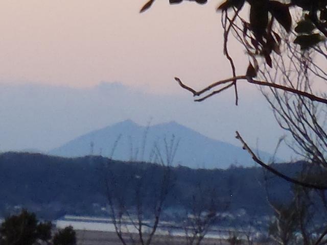 雷神社から筑波山