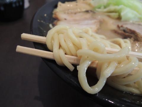 鶏白湯醤油らー麺の麺