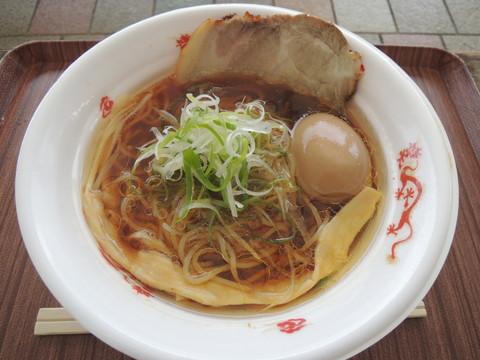 日本3大地鶏の醤油そば(800円)