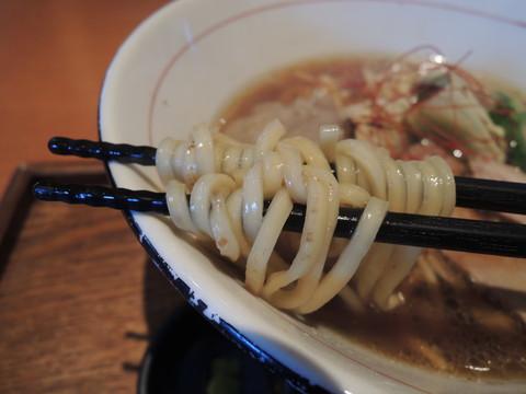 鴨と蛤の熟成醤油の麺