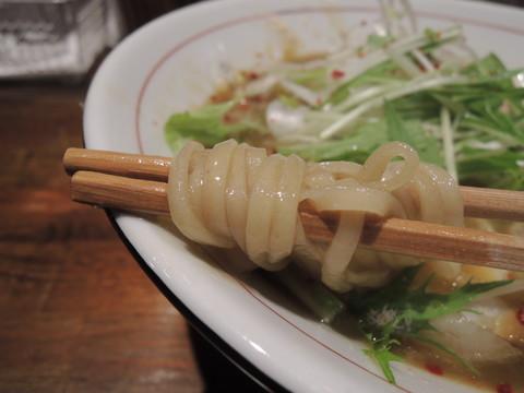 濃厚鶏白湯ラーメンの麺
