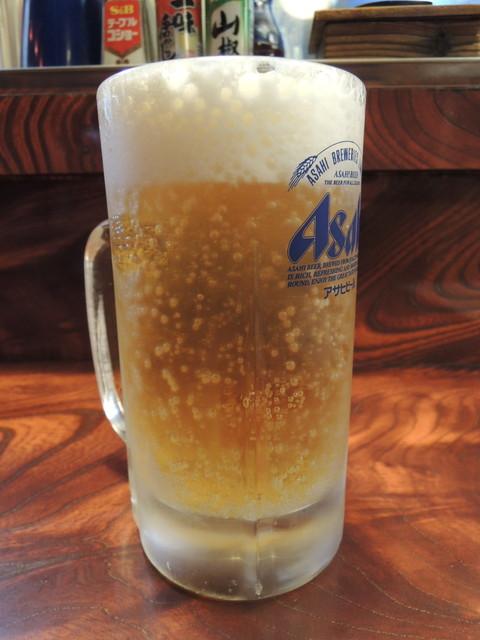 生ビール中(550円)