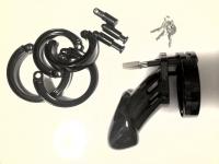 プラスチック製貞操帯黒(CB-6000)