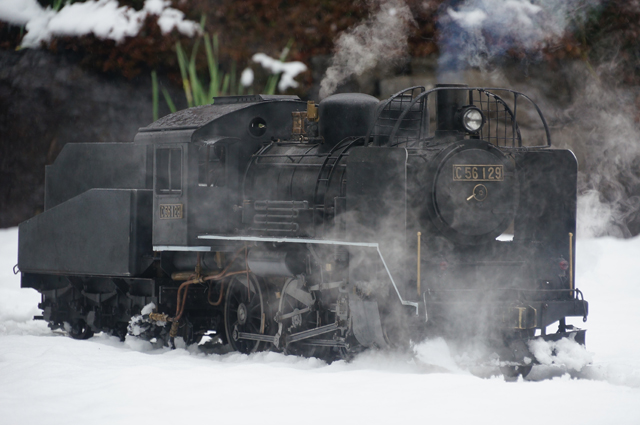 C56 129 スノープロウに雪を載せて 飯山線冬仕様
