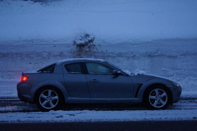 マツダRX-8 雪の中