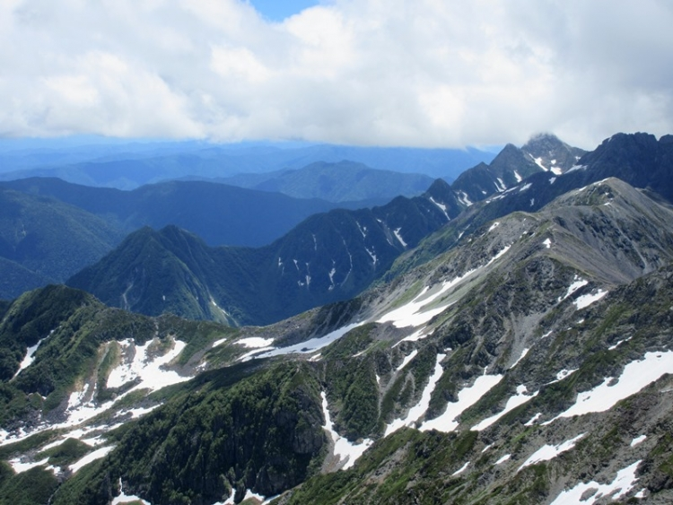 槍ヶ岳へ14150721