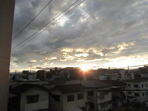 夕日はキレイ