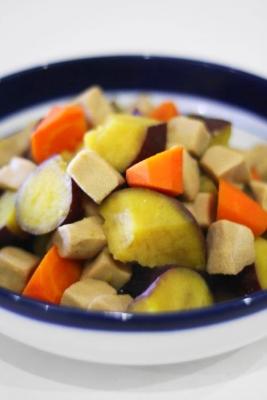 高野豆腐とさつまいもの含め煮2