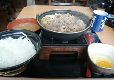 吉野家:牛すき鍋膳大盛り、豚汁