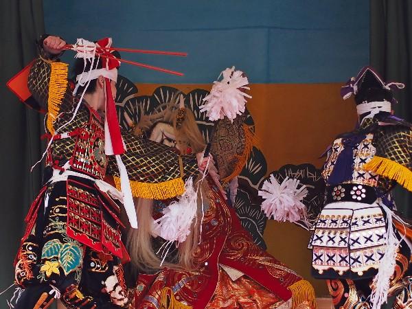石鎚神社春祭り 神樂 演目:琴庄神楽 「塵倫」じんりん」