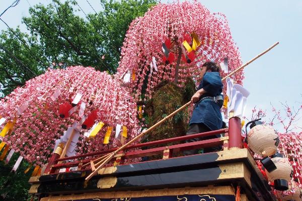 江戸時代から続く三国祭  三国神社前