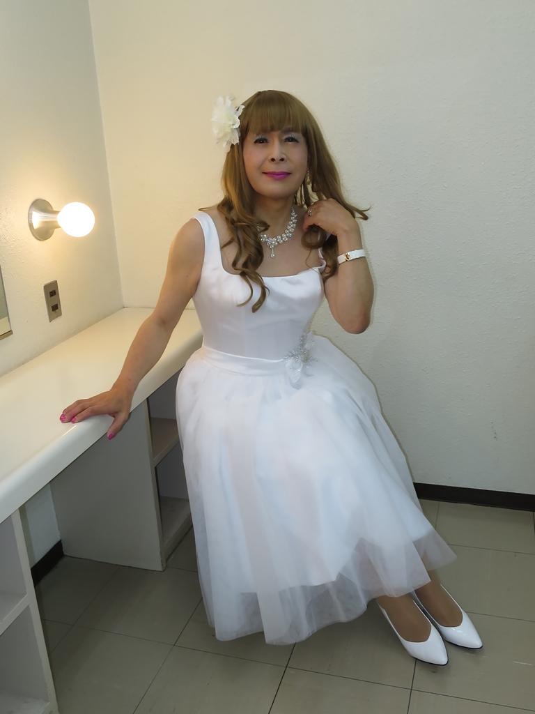 ホワイトショートドレス(8)