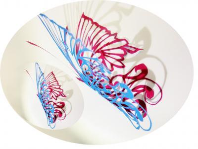 切り絵 蝶々 2色 1
