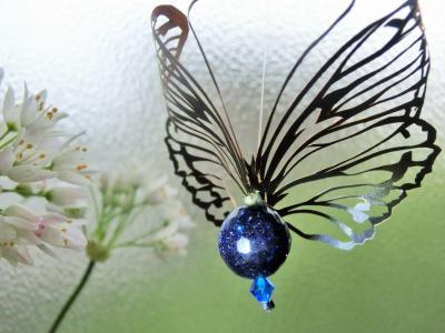切り絵蝶々 立体3
