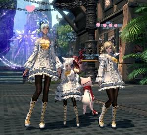 白ロゼッタ 3姉妹風