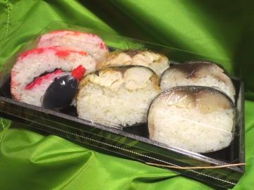 棒寿司三種盛り