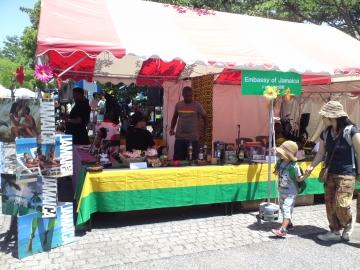 7ジャマイカ大使館ブース