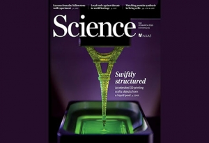 New 3-D printing Science Magcover