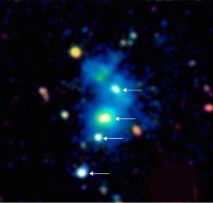 quasars of SDSS J0841+3921 protocluster