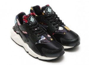 NIKE WMNS AIR HUARACHE RUN PRINT BLACK