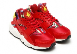 NIKE WMNS AIR HUARACHE RUN PRINT RED