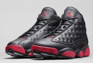 NIKE AIR JORDAN 13 RETRO BLACK GYMRED