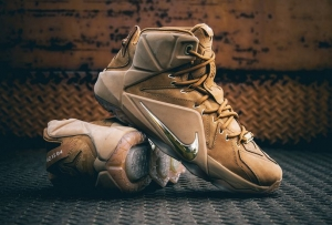 NIKE LEBRON XII EXT WHEAT QS