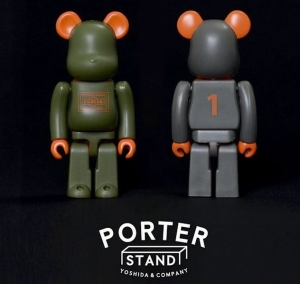 PORTER STAND BE@RBRICK sage green & silver gray