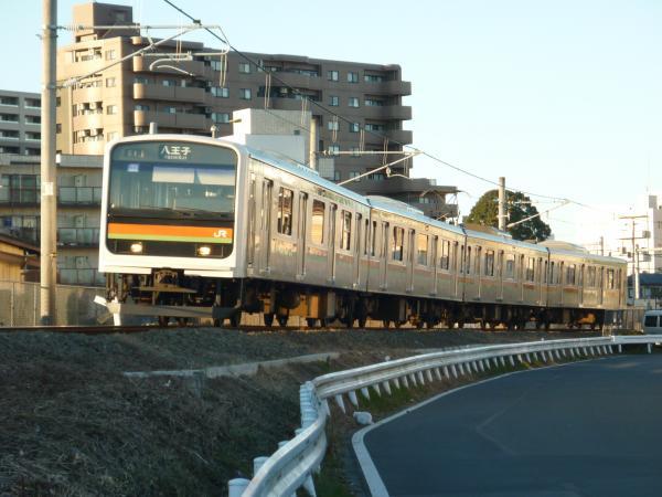 2014-12-26 八高線209系ハエ61編成 八王子行き