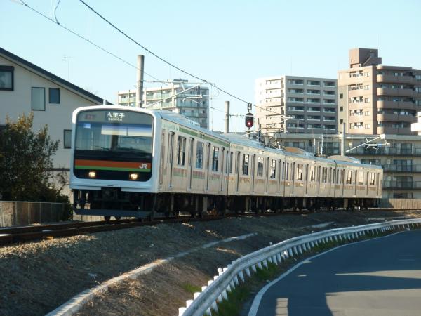2014-12-27 八高線209系ハエ63編成 八王子行き