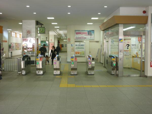 2015-01-11 中村橋駅 改札口