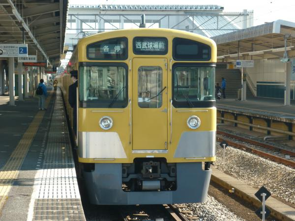 2014-01-12 西武2063F 各停西武球場前行き