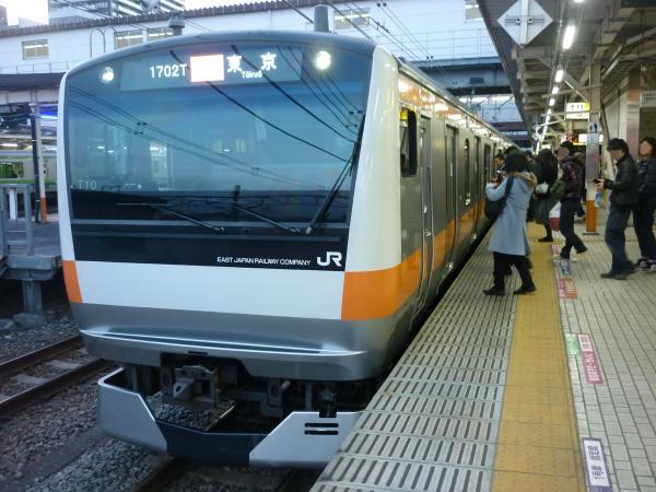 2015-02-27 中央線E233系トタT10編成 快速東京行き