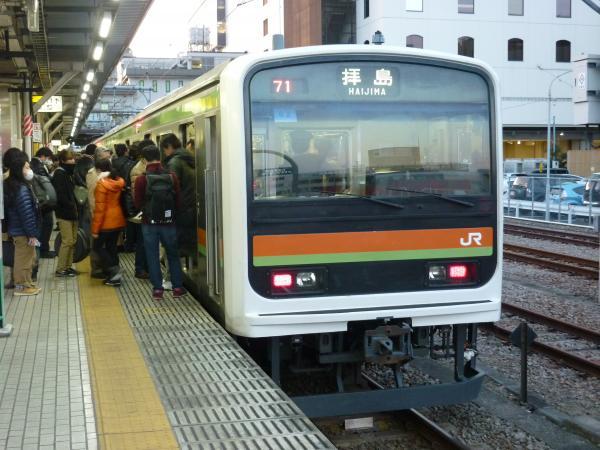 2015-02-27 八高線209系ハエ62編成 拝島行き