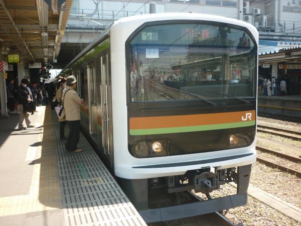 2015-03-30 八高線209系ハエ71編成 川越行き2