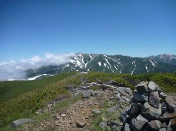 北の俣の稜線