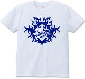 バハムート(頭部)トライバルデザイン-Blue-